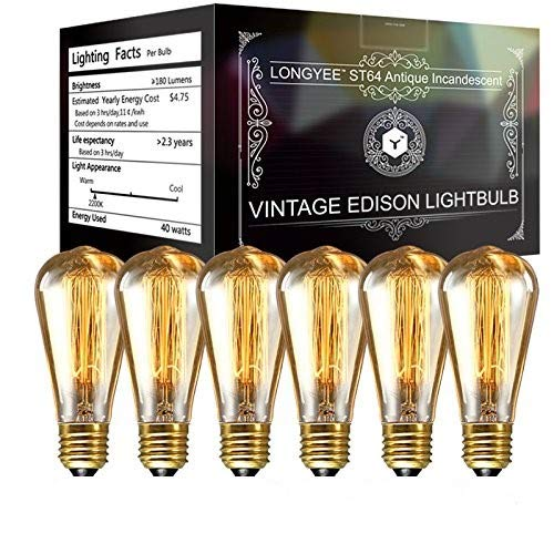 Longyee Vintage E27 rosca Edison Bombilla