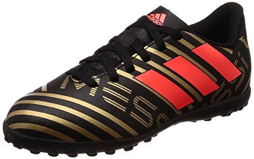 Adidas Nemeziz Messi Tango 17.4 TF J, Botas de Fútbol Unisex Niño, Negro (Negbas/Rojsol/Ormetr 000), 36 EU