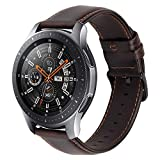 MroTech Bracelet Montre Samsung Galaxy Watch 46mm Bracelet Cuir Gear s3 Frontier...