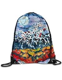 Sacs de sport Sacs à dos et sacs de sport ruichangshichengjie Painting Flamingos Print Drawstring Backpack Rucksack Shoulder Bags Sport Gym Bag for Men and Women