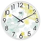 Lili Horloge Mural en Style Multi Classique de façon Silencieux 10Pouces (diamètre Verre 25CMT & H Blanc) (édition: wo) ZX