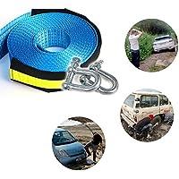 Nylon di traino cinghia ezykoo Heavy Duty fune di traino 20K LB capacità con 2in acciaio, per auto, camion, SUV (2