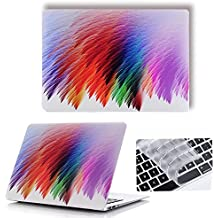 Macbook Plastic Hard Case , Maeco Smooth Touch Matte Laptop Case with Keyboard Cover, Colorful Painting Series for Mac Pro 13 Inch 2017/2016 Release with/without Touch Bar A1706/A1708 ,Furry