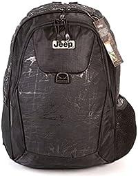 JEEP Sac à dos Sac à dos voyage scolaire College randonnée sport pour ordinateur portable Noir