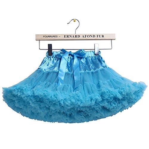 d Tüll Petticoat Ballerina Tutu Rock 5-7 Jahre / M, Hellblau (Ballerina Tutu)