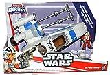Disney Playskool Heroes Toy - Star Wars Galactic Heroes - Poe's X-Wing Fighter with Figure