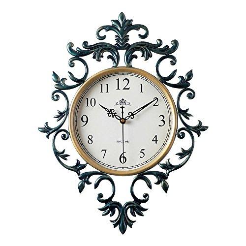 OOFYHOME Wanduhr Europäische Retro Uhr Mode Kunstuhr Digitaluhr Stille  Nicht Tickende Uhr Wanduhr Für Wohnzimmer