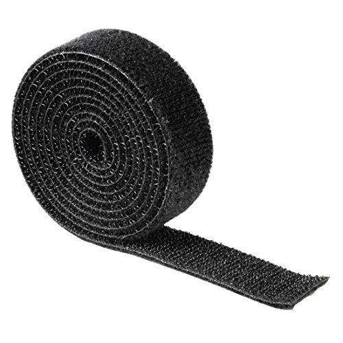 Hama - Hook and Loop Strap, universal, 1 m, black, Negro, 1000 mm
