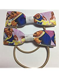Classic Design Beauty and the Beast Themed Hair Bows