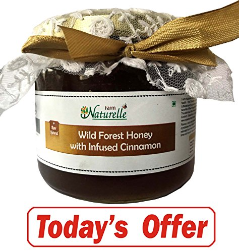 Farm Naturelle-Cinnamon Infused 100% Pure Raw Natural Wild Forest Honey-400 Gms-Delicious And Healthy