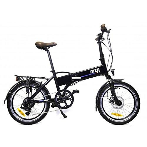 urbanbiker Elektrisches Fahrrad faltbar mit integriertem Akku in das Feld, Modell Nizza in Schwarz matt