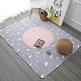 SESO UK- Nordic Modern weichen Teppich für Kinder Wohnzimmer Nachttisch - Dicke: 1cm ( Farbe : Pink , größe : 120*180cm )