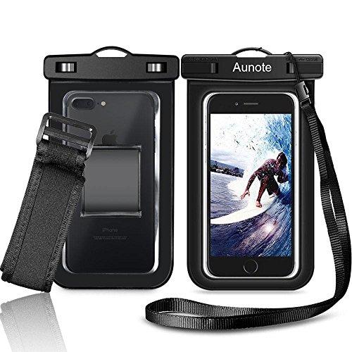 Wasserdichte Handyhülle Hülle Tasche Beutel Aunote handyTasche für iPhone 8 8 Plus X 6 7 6s 7 Plus 5s,Samsung S9 S8 S7 S6 Edge J5, Huawei P10 P9 Lite,Honor,LG Smartphones Bis Zum 6 Zoll Outdoor Unterwasser