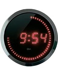 Orium 11664 Reloj LED rojo / cepillado Diámetro de aluminio de 30 cm