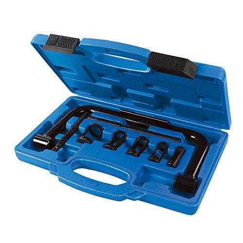Silverline 494569 Ventilfederspanner, 16-30 mm, 10- Teilig Satz, Schwarz, 16-30 mm