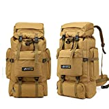 TnXan Tactical Bag Military Backpack Mountaineering Men Travel Outdoor Sport Bags Molle Backpacks Hunting Camping Rucksack 70L