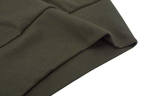 Hownew-X Damen Pullover Casual Langarm Rundhals Asymmetrisch Oberteile Oversize Langarmshirt Sweater Braun
