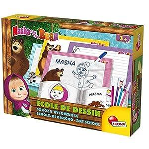 Lisciani 78080 - Juegos EDUCATIFS-Masha y Michka de la Escuela de Dibujo, Multicolor