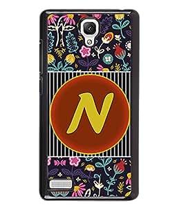 PrintVisa Metal Printed Alphabet Designer Back Case Cover for Xiaomi Redmi Note 4G -D4798