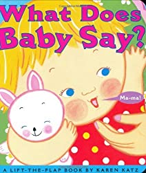 What Does Baby Say?: A Lift-the-Flap Book (Karen Katz Lift-the-Flap Books) by Karen Katz (2004-11-01)