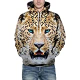 40%-60% Off!Men's Hooded Sweatershirt Autumn Winter 3D Print Long Sleeve Top Blouse - B07JH69DHM