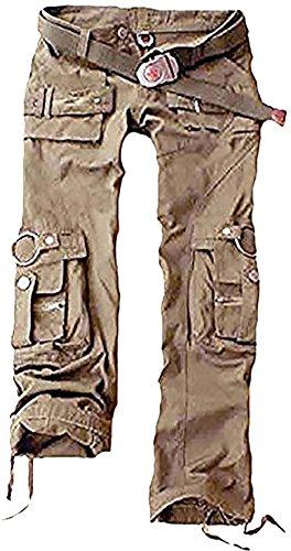 Juicy Trendz Frau Hosen Armee Militär Damen beiläufig Ladung keuchen Khaki L