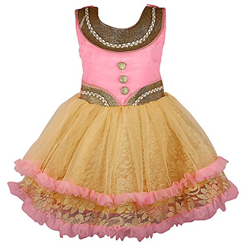 35ba6bf08 ... Wish Karo baby girls Party wear frock dress DN69 fr069 _6-12 Mnth