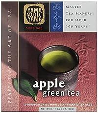 Yamamotoyama Apple Green Tea Pyramid Bag, 10 Count