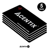 ACENTIX 5 x Schede di blocco RFID / NFC,Protezione carta di credito / debito per il tuo portafoglio o borsetta | Batterie richieste, No maniche pronte - Nero