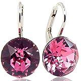 Ohrringe mit Kristallen von Swarovski Silber Rose NOBEL SCHMUCK