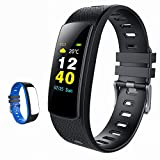 iWOWNfit i6HRC Fitness Tracker Color Screen Display Activity Tracker Smart Band with heart rate monitor, Sleep Monitor, Smart Bracelet Pedometer Wristband with Replacement Band for iOS & Android