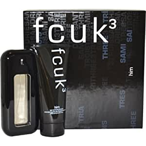 Fcuk #3 Eau De Toilette 100ml and Shower Gel 200ml Gift Set for Him