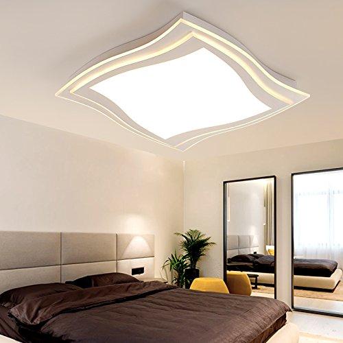 Xmz soffitto moderni lampadari di luce luce per soggiorno, sala da pranzo,corridorsquare 45*45cm 30w luce bianca lampada a soffitto luci