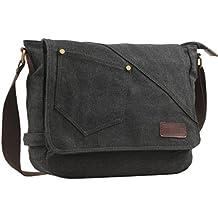 Retro Canvas Messenger Bags Pack Borsa Da Spalla Casuale Daypack Sling Per Uomini E Donne Di Sport Lavoro Scuola Viaggio
