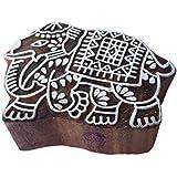 Royal Kraft Elephant Shapes Wooden Stamps Elegant Printing Blocks