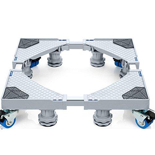 Vertikale Gefrierschrank Rack (Einstellbare Räder Base Multifunktionale Einstellbare Base Wheels Base Rollen Für Waschmaschine Kühlschränke Gefrierschrank Wäschetrockner Squared,8Rounds+8Legs)