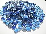 Mosaiksteine Polygonal 1000g Blau Grau Mix Glastropfen lose Glassteine zum