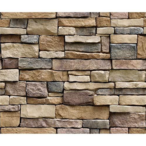 Fannty 3D Stone Brick Wallpaper PVC wandaufkleber Schlafzimmer Wohnzimmer Hintergrund Aufkleber