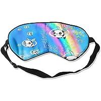 Comfortable Sleep Eyes Masks Panda And Rainbow Printed Sleeping Mask For Travelling, Night Noon Nap, Mediation... preisvergleich bei billige-tabletten.eu