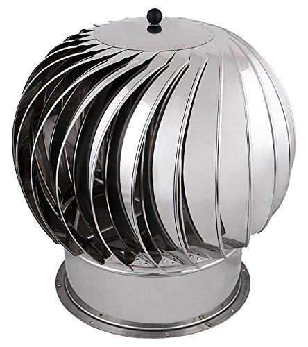 Collier en acier inoxydable avec ventilation Big Cheminée Rotowent Base 500mm