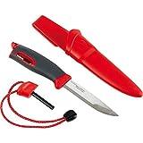 Light My Fire Swedish FireKnife with 9.5 cm (3.75 Inch) Sandvik Stainless Steel Blade and Swedish FireSteel Fire Starter, Red Color: Red, Eisenwaren, Eisenwarenhandlung
