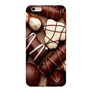 Delighted Chocolate Sweets White Brown Back Case Cover for iPhone 6 Plus 6S Plus