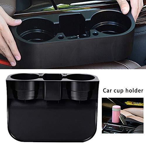 WUYANSE Universal Car Seat Seam Wedge Cup Holder, Multifunctional Bottle Organizer Seat Drinking Bracket, Black (Cup Holder Car Organizer)