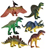 TOYMYTOY 6Pezzi Dinosauro Giocattolo Dinosaur Piccolo Blocchi Giocattoli Jurassic World Miniature Action Figures Set