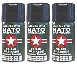 CS GAS NATO Tränengas 3x Abwehrspray