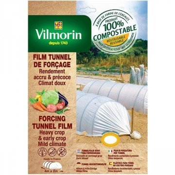 Vilmorin - Film tunnel de forçage - farine de céréales - 2m x 4m 20µm