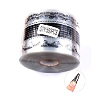 FingerAngel 500PCS Nail Art Forms Sticker Black Clear Extension Guide Self-adhesive Tips for Acrylic UV Gel Nail Art