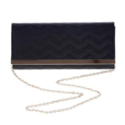 Damara® Wellenartig Großzügig Damen Abendtasche Zum Umhängen Silber