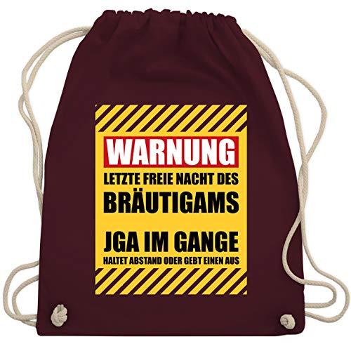 hied - Warnung letzte freie Nacht des Bräutigams - Unisize - Bordeauxrot - WM110 - Turnbeutel & Gym Bag ()