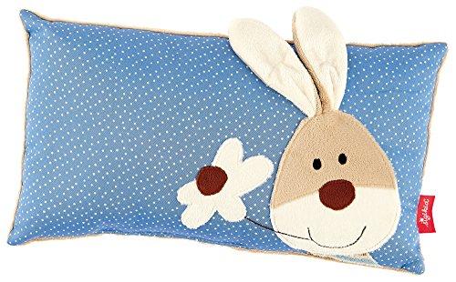 sigikid, Jungen, Schmuse-Kissen Hase, Semmel Bunny, Blau/Beige, 40992